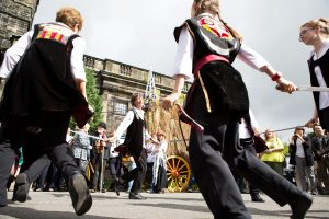 Sowerby Bridge Rushbearing festival, at Sowerby St Peters. Photo: Bruce Fitzgerald